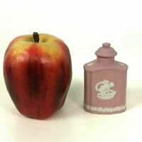 Wedgwood Pink Jasperware Perfume Bottle Rare