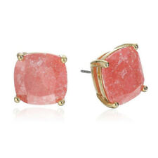 """NWT KATE SPADE CRYSTAL SQUARE STUD EARRINGS $38 1/2"""" CORAL RED"""