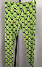 LuLaRoe Legging O/S Lime Green Kermit Frog Sesame Street Comfy Lounge