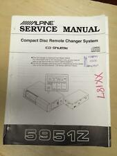 Alpine Service Manual for the 5951Z CD Changer Car Stereo   mp