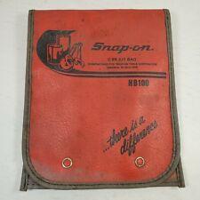Vintage Snap-on HB 100 6 piece file set in c 99 kit bag.