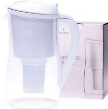 Gentoo Glass Water Filter Jug - White   1.5L   Ecobud   Eco Friendly + BPA Free