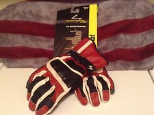 MSRP$ 49  Scorpion LEATHER Kat Racing women  EXO ARMOUR Gloves  red/blk sz S
