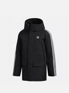 Adidas Originals Men`s Padded 3S Winter Coat Parka Puffer Black Jacket ED5834
