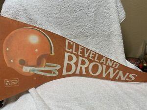 1970's Cleveland Browns PENNANT 12X29 NFL Football Vintage Original Full Size TM