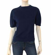 TSE Navy Blue Cashmere Short Sleeve Pullover Knit Sweater L