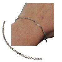 Bracelet chaîne fine en argent massif 925 maille jaseron 19cm bijou