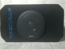 "8"" Tunnel Slot Ported loaded Powered Subwoofer Enclosure Amp built in Wrangler"
