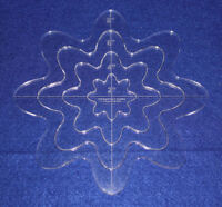 """4 Piece Nested Daisy Set 1/4"""" Clear Acrylic - Quilting/Embroidery Templates"""
