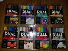 Tombow Dual Brush Marker Pen Set lot of 8 Sets New/Sealed 80 Markers Total