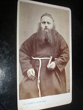 Cdv old photograph hairy monk by Redwitz at Neustadt a/S Germany c1880s
