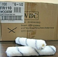 """LOT OF 100 - WOOSTER 6 1/2"""" x 1/4"""" NAP PERLON FABRIC MINI ROLLER COVERS"""
