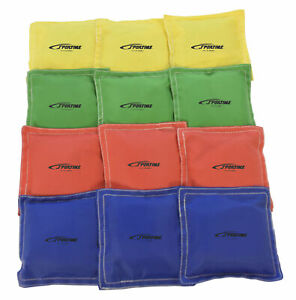 Sportime Nylon Square Bean Bags, 4 Inches, Set of 12
