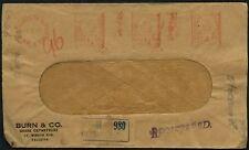 India 1947 Calcutta Machine Cancels Registered Cover #C46971