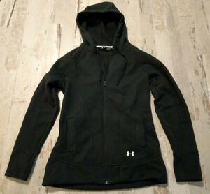 Under Armour Black Zip-Up Hooded Jacket, Woman's SIZE LARGE