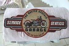 Nostalgie Blechschild Bild Service Station Bike Garage 29 x 60cm Retro Antiklook