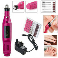 Nail File Drill Kit Electric Manicure Pedicure Acrylic Portable Salon Machine US