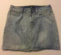 Womens GAP 1969 Distressed Stonewash Denim Jean Mini Skirt Size 4