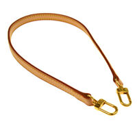 LOUIS VUITTON Logos Shoulder Strap Leather Brown Vintage Authentic AK26107k