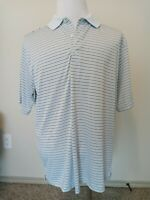 Greg Norman Men's Striped Golf Polo Shirt Size L