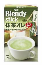 AGF Blendy Stick Matcha Au Lait Powder stick 7 sticks From Japan s0415 Free ship