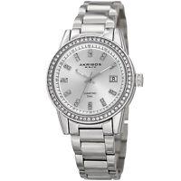 Women's Akribos XXIV AK928SS Swarovski Crystal Bezel with Diamond Markers Watch