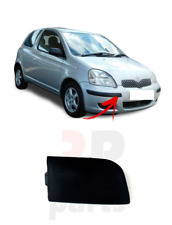 FOR TOYOTA YARIS 2003-2006 NEW FRONT BUMPER TOWING EYE COVER CAP BLACK TEXTURE