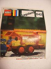 70' RARE anciene notice ORIGINALE instruction manual Lego System Legoland n° 642