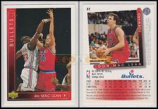 NBA UPPER DECK 1993/94 - Don MacLean (McLean) # 61 - Bullets - Ita/Eng - MINT