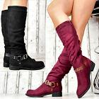 Nuevo Zapatos Mujer Botas de invierno botas mujer Zapatos Hebillas Forrado