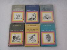 Lot C. S. Lewis CHRONICLES OF NARNIA 1-4 6 7 Pauline Baynes Macmillan 1964-1965