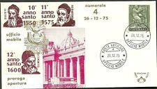 UFFICIO MOBILE n 4 PAOLO VI ANNO SANTO 1975 ANNI SANTI VARI ANNULLO 26 -12 -1975