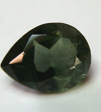 Natural Australian earth-mined green teardrop sapphire gemstone...1.37 carat
