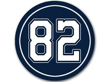 4x4 inch Round #82 Jason Witten Sticker -decal cowboys colors number player 82