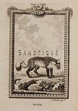 "Buffon's ""Natual History"" - ""ISATIS"" - Copper Engraving - 1785"