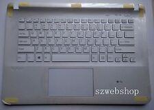 New for SONY VAIO SVF14 SVF143A1QT FIT14E SVF142A23T palmrest US keyboard white