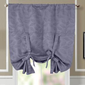 Virginia Tie Up Shade Window Curtain Room Darkening Rod Pocket 1PC