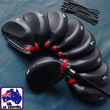 9PcsSet Golf Club Caps Iron Putter Head Protect Covers Rubber Sleeve OBGO21444
