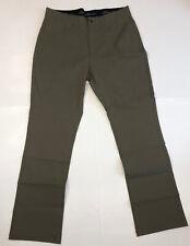 Eddie Bauer Mens Adventure Trek Pants, 34x32, Dill Green, Water Repellent NWOT