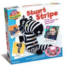 Kids Childrens Stuart Stripe Make Your Own Sock Doll Zebra Creative Playset