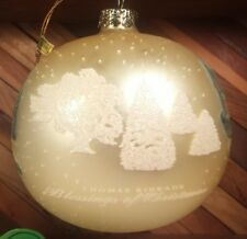 Thomas Kinkade Blessing of Christmas Brushworks Collection Glass Ball Ornament