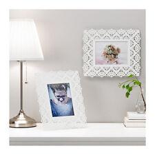 "IKEA SKURAR 5 x 7"" 13 x 18cm Decorative Steel Picture Photo Frame in White"