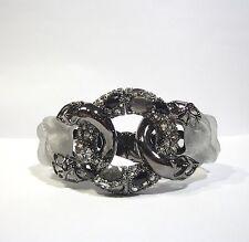 Alexis Bittar Large Crystal Lace Link Hinged Bracelet