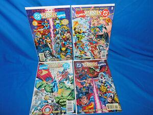 DC Vs Marvel # 1-4 Complete Set Superman Spider-Man  X-Men1996