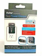 Vivitar Rapid Travel Charger & Wall Plug VIV-QCB-902  + Euro Adapter