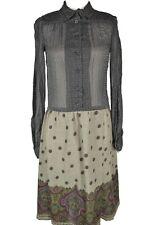 Koos Van Den Akker Vintage Midi Prairie Dress Sz 8 Long Sleeve Button Paisley