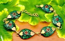Nepal Fashion Banjara Turquoise Brass Tibetan Designer Jewelry Bracelet BTB609