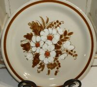 "Mountain Wood Collection Stoneware Dried Flowers 10 1/2"" Dinner Plate"