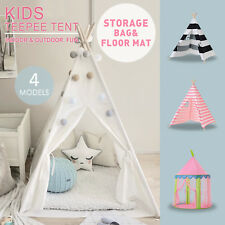 Large Cotton Canvas Kids Teepee Tent Childrens Wigwam Indoor Outdoor Play House & Teepee Camping Tents | eBay