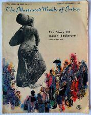 Illustrated Weekly of India 3 Nov 1963 issue MARIO MIRANDA cover frayed edges